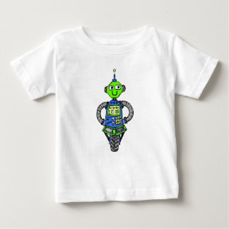 Arnie robot, blue and green baby T-Shirt