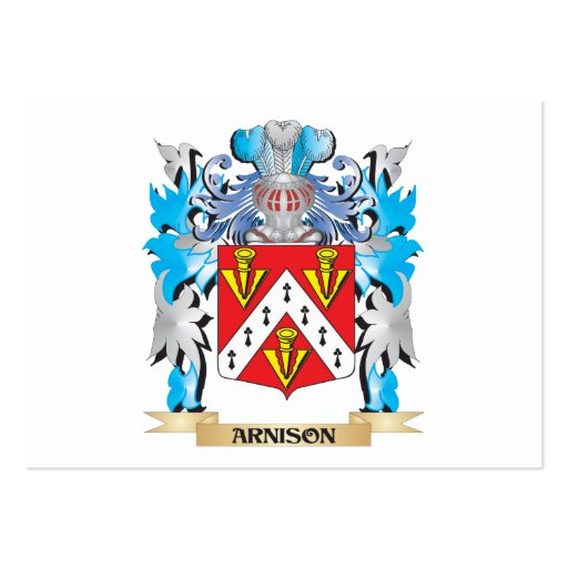 Arnison Coat Of Arms Business Card Template