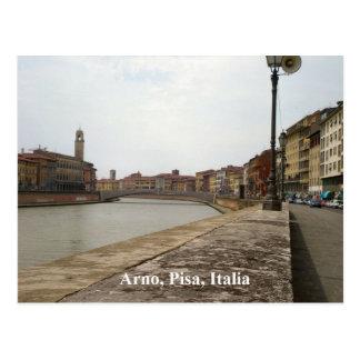 Arno, Pisa, Italia Postcard