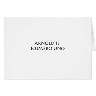 ARNOLD CARD