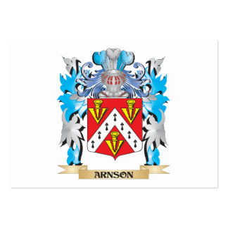 Arnson Coat Of Arms Business Card Template