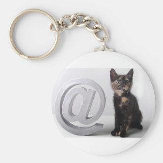 Arobas whit Kitten Keychain