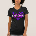 Aroha Tee or hoodie - Blurple on Black
