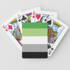 aromantic flag bicycle playing cards
