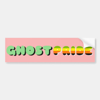 Aromantic Pride Ghost Pride Bumper Sticker