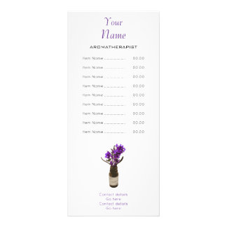 Aromatherapist Rack Card