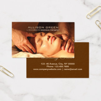 Aromatherapy Acupressure Massage therapist Business Card