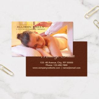 Aromatherapy Acupressure Reiki Massage therapist Business Card