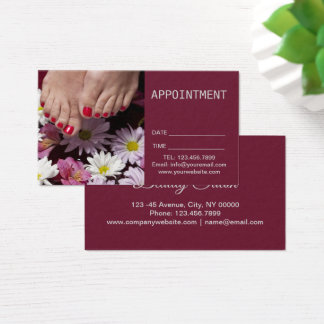 Aromatherapy SPA Nail Salon Pedicure Appointment Business Card