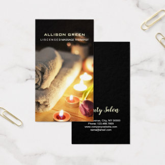 Aromatherapy SPA Salon Massage therapist Business Card