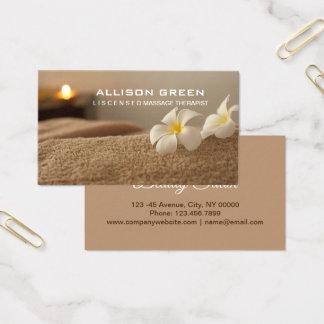 Aromatherapy SPA Salon Massage therapist Business Card
