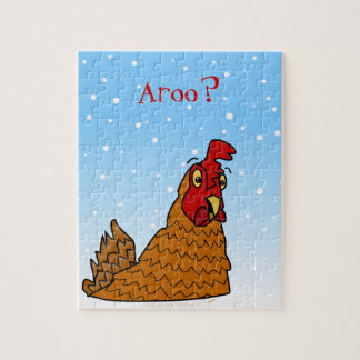 Aroo Funny Chicken Lover Christmas or Winter Snow Puzzles