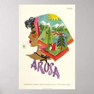 Arosa,Schweiz, Ski Travel Poster