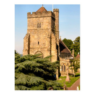 Around Britain,   Country Parish Church Postcard
