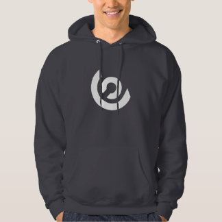 Around Logo Hoodie (Dark Grey/White)