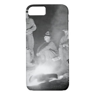 Around the camp-fire, men of Co_War Image iPhone 7 Case