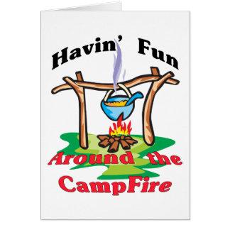 Around the Campfire Card