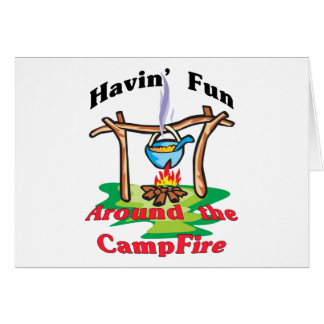 Around the Campfire Greeting Card