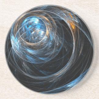 Around the World Abstract Art Sandstone Coaster
