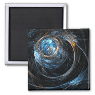 Around the World Abstract Art Square Magnet
