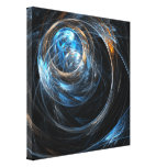 Around the World Abstract Art Wrapped Canvas Print