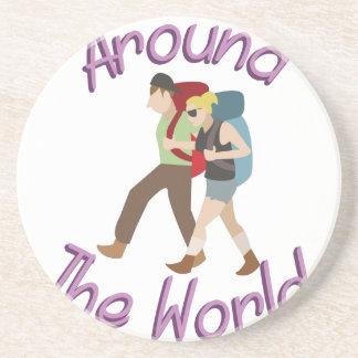 Around the World Beverage Coaster