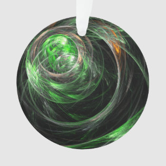 Around the World Green Abstract Art Acrylic Circle