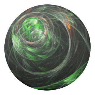 Around the World Green Abstract Art Eraser