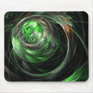 Around the World Green Abstract Art Mousepad