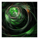 Around the World Green Abstract Art Print
