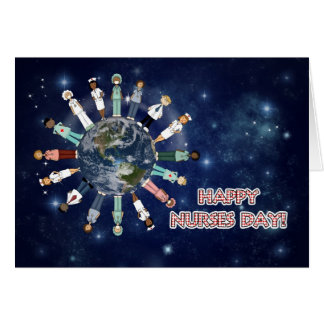 Around the World Nurses Day Striped Card