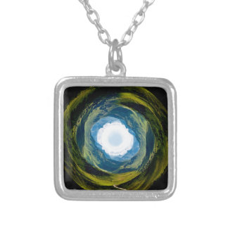 Around the World Silver Plated Necklace