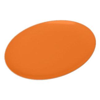 Around uni orange chalkboard party plates