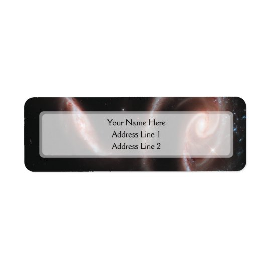 Arp 273 Galaxy Pair (Hubble Telescope) Return Address Label