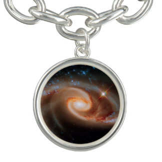 Arp 273 Rose Galaxies Hubble Outer Space Photo Bracelet