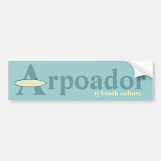 Arpoador RJ beach culture Bumper Sticker