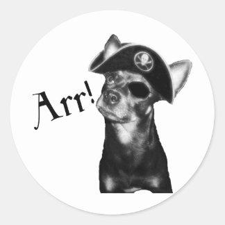 ARR Pooch Pirate Round Sticker