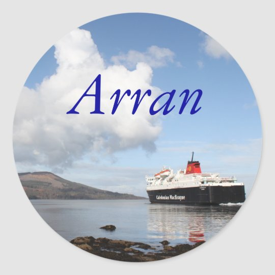 Arran, Scotland Classic Round Sticker