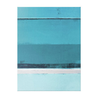 'Arrange' Teal and Grey Abstract Art Canvas Print