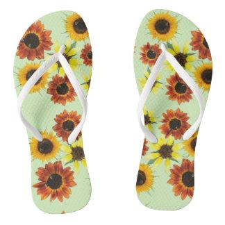 Array Colorful Sunflowers Flowers FlipFlops