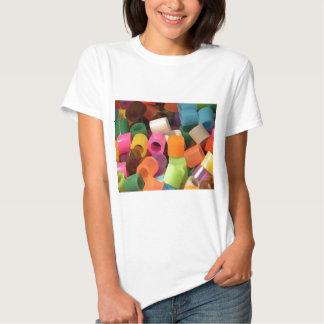 array of colour ... tee shirts