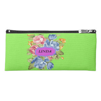 Array Of Flowers With Name Plate Pencil Case