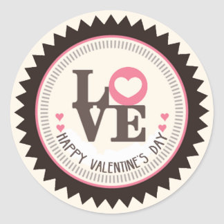 Array of Love Happy Valentine's Day Classic Round Sticker