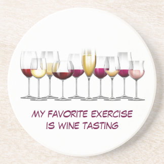 Array of Wine Glasses Beverage Coasters