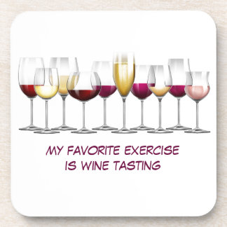 Array of Wine Glasses Drink Coasters