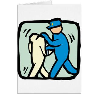 arrest card