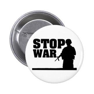 Arrêtez la guerre macaron rond 5 cm