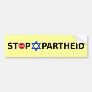 Arrêtez l'apartheid adhésif pour voiture