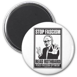 Arrêtez le fascisme magnet rond 8 cm