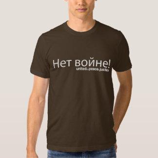 Arrêtez le T-shirt foncé russe de guerre